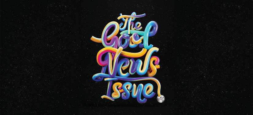 Pulse's The Good News Issue cover illustration